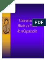 Como definir la misión y la visión de su organización
