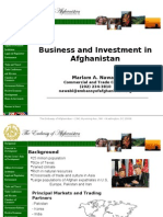 business and investment in afghanistan presentation
