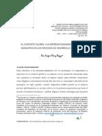 Rozzi.EL CONTEXTO GLOBAL Y LA INTERNACIONALIZACIÓN DE LOS MUNICIPIOS EN LOS PROCESOS DE DESARROLLO TERRITORIAL