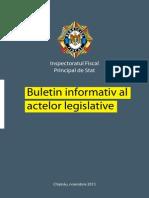 Buletin Informativ Al Actelor Legislative 11.2013