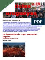Noticias Uruguayas Domingo 19 de Enero Del 2014
