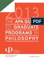 APA Guide to Philosophy Grad Schools