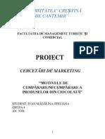 Proiect Cercetari de Marketing-produse Cosmetice