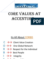 Core values at accenture