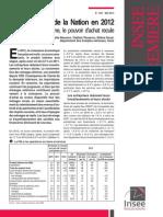 Les Comptes de La Nation en 2012