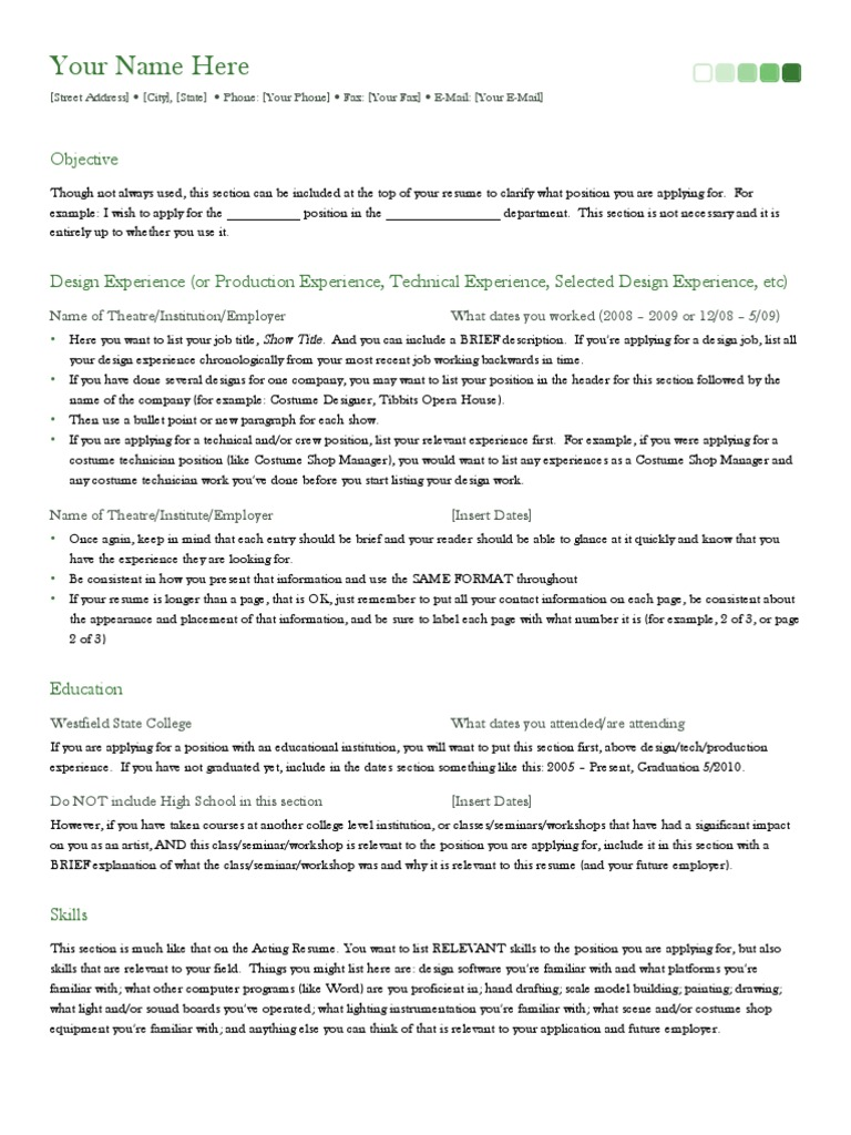 Sample Resume Resume Technology