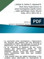 Meningiomas e Hiperostosis