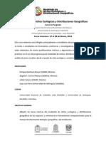 Modelado de Nichos Ecológicos y distribuciones geográficas