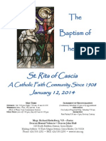 St. Rita Parish Bulletin 1/12/2014
