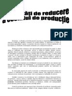 Modalităţi de reducere a costului de productie