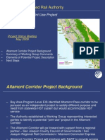 Status Report on Altamont Corridor Project Description - 090427
