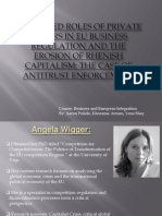 Enhanced Roles of Private Actors in EU Business