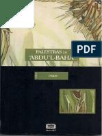 Palestras de 'Abdu'l-Bahá - Paris1911