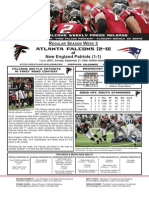 Atlanta Falcons vs. New England Patriots Week 3