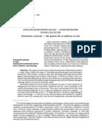 Analiza egzystencjalna —poszukiwanie zgody na życie (Alfried Längle)