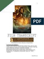Prince Caspian Movie Script