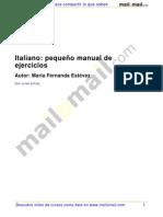 Italiano.pequenyo Manual de Ejercicios
