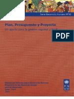 PNUD Plan Presupuesto y Proyecto
