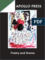 Black Apollo Press Drama and Poetry Catalogue