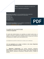 Clases de Magnitudes