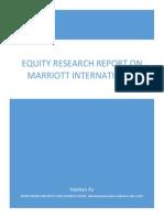 Marriott Equity Research Report