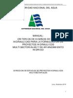 CRITERIOS DE DISEÑO DE OBRAS HIDRÁULICAS ANA