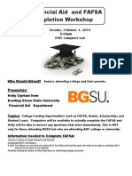 FAFSA Workshop  - February 4, 2014