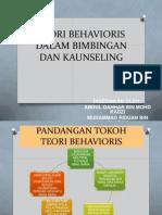 Teori Behavioris Dalam Bimbingan Dan Kaunseling
