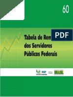 Tabela de Salários do Governo Federal 2013