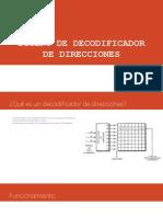 DISEÑO DE DECODIFICADOR DE DIRECCIONES