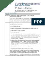 IEP Meeting Planner