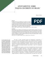 Apontamentos Sobre a Pesquisa Em Direito No Brasil - Marcos Nobre