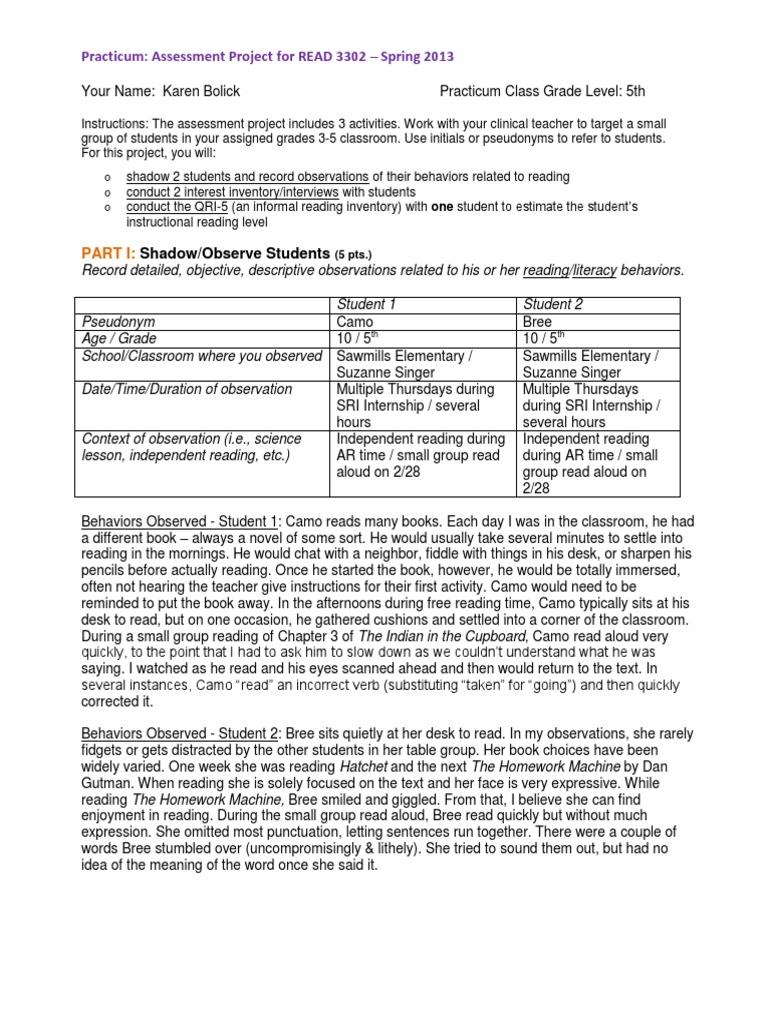 bolick karen assessment project reading comprehension educational assessment