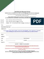 Build Record Order Form Dodge