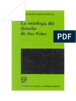 Sociología del Derecho en Weber