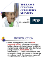 The Law & Ethics in Geriatrics Servi