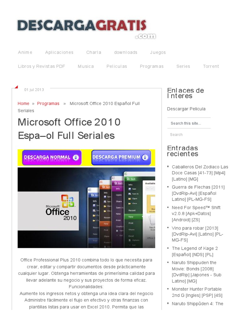 Descargar Microsoft Offi..