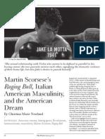 Martin Scorsese's Raging Bull, Italian American Masculinity, and the American Dream