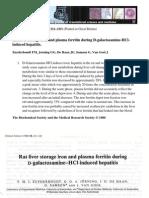 _rat Liver Storage Iron and Plasma Ferritin During D-galactosamine-hcl-Induced Hepatitis