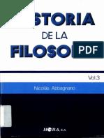 Historia de la Filosofía Vol.3 Nicolás Abbagnano