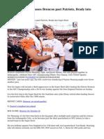 Peyton Manning passes Broncos past Patriots, Brady into Super Bowl