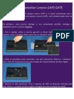 Como Desmontar Lenovo G470 G475