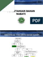 1. BAHAN NABATI