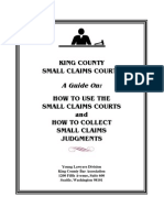 How to Use the Small Claims Courts WA