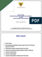Presentasi MESDM Kepada Menko Perek Ttg Kerjasama Indonesia-Jepang (6 Nop 2006)