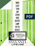 Sylvania Fluorescent Lifeline High Output Lamps Brochure 1964