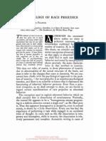 Edward Franklin Frazier- The Pathology of Race Prejudice