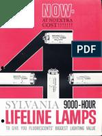 Sylvania Fluorescent Lifeline Lamps Brochure 11-1962