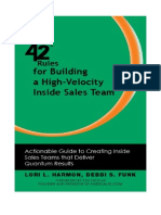 42 Rules for Building a High-Velocity Inside Sales Team