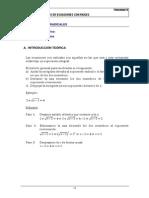 Ecuaciones Con Raices Resueltos